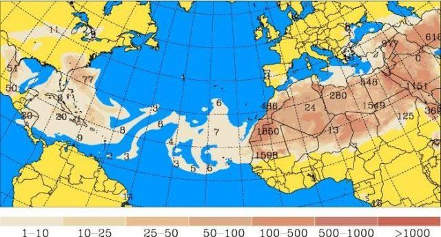 Polvo del Sahara mantiene temperaturas elevadas en el país